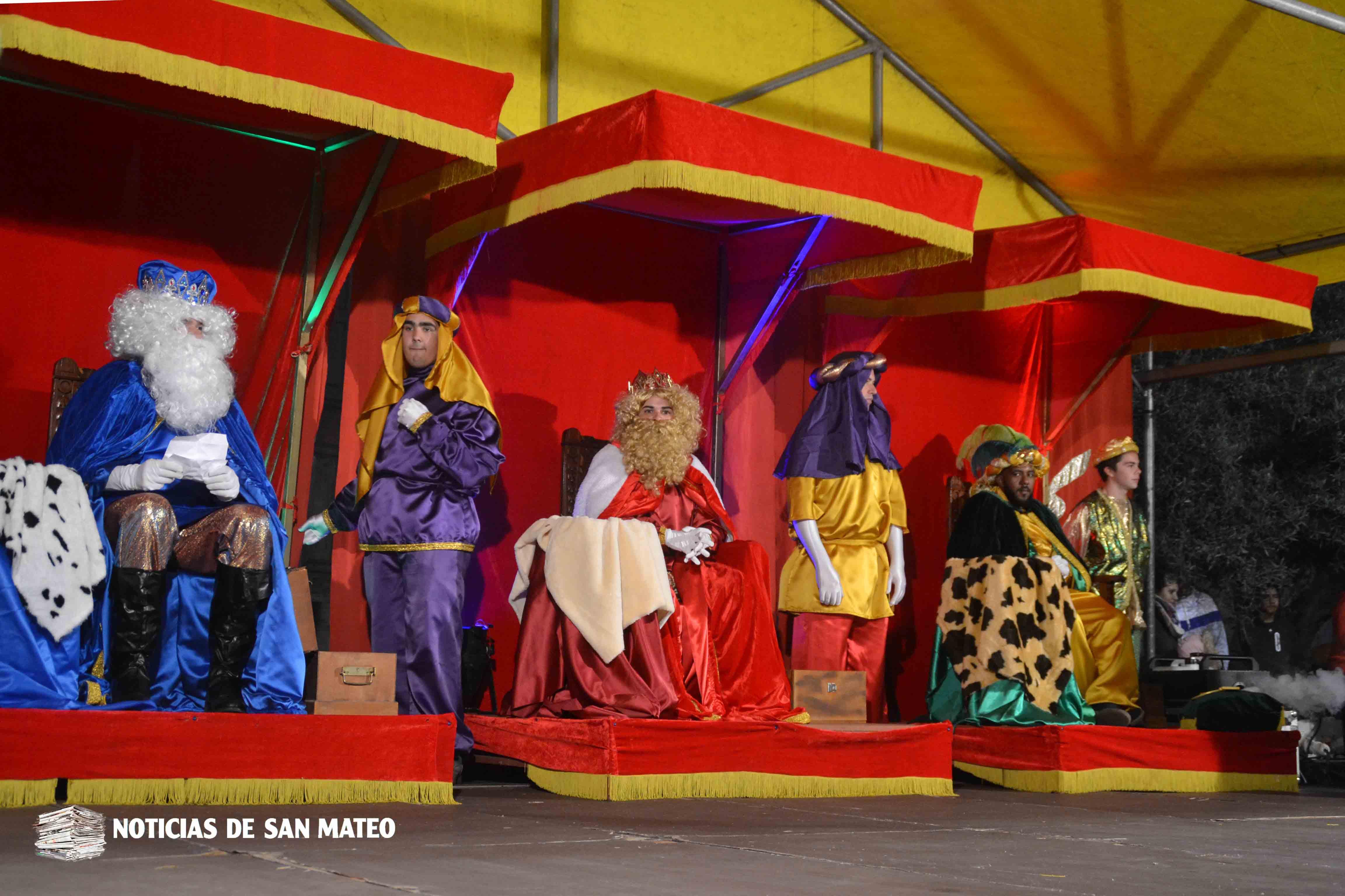 Los Reyes Magos visitarán los barrios y el casco de San Mateo el 5 de enero