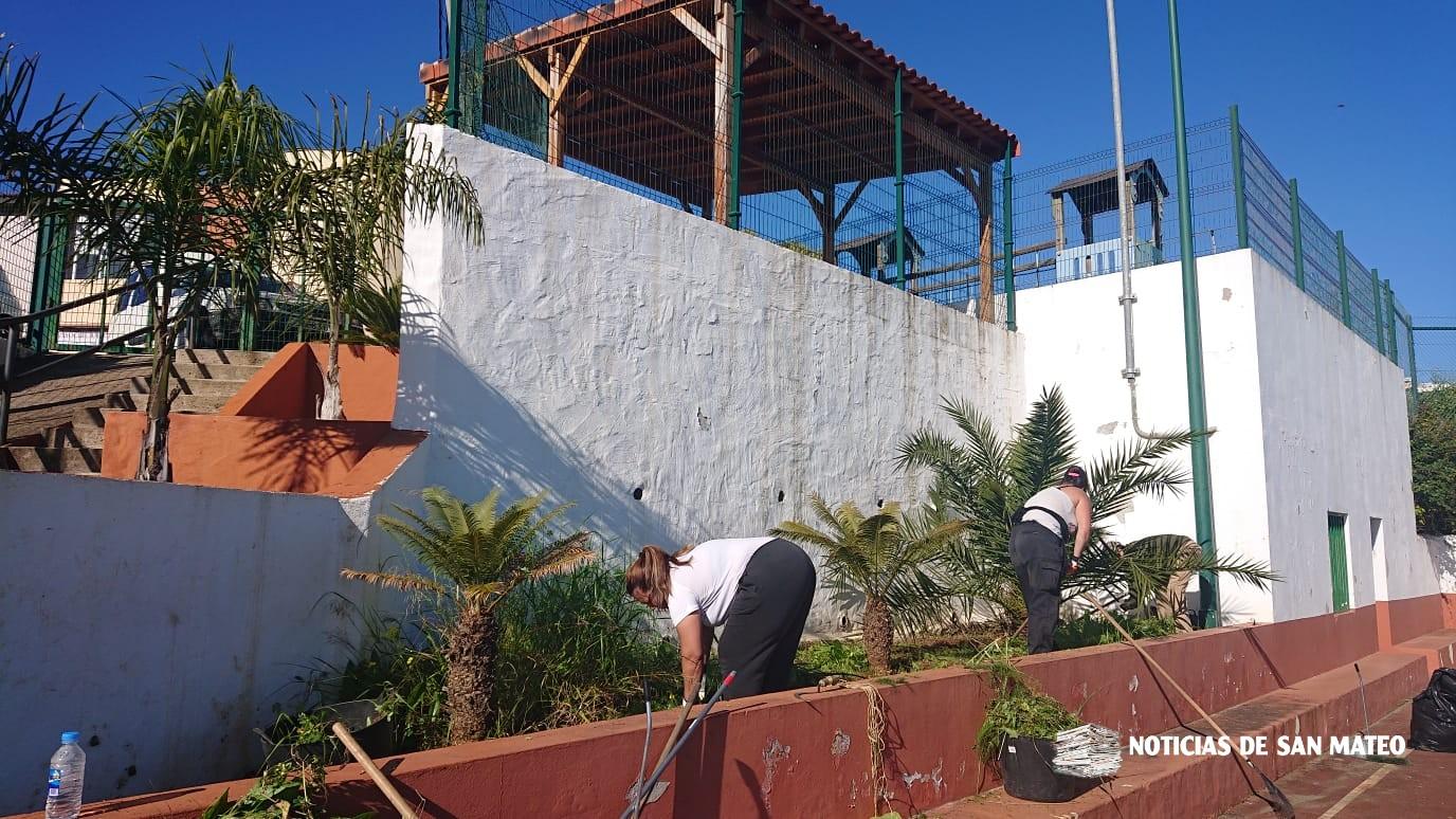 Limpieza en cancha La Solana – 12 de marzo de 2019