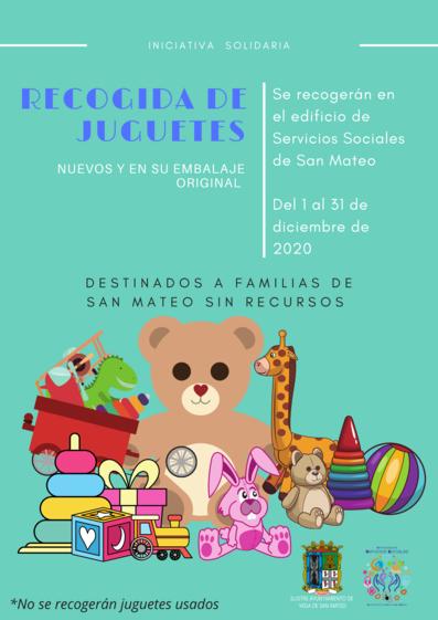 Servicios Sociales organiza una recogida de juguetes