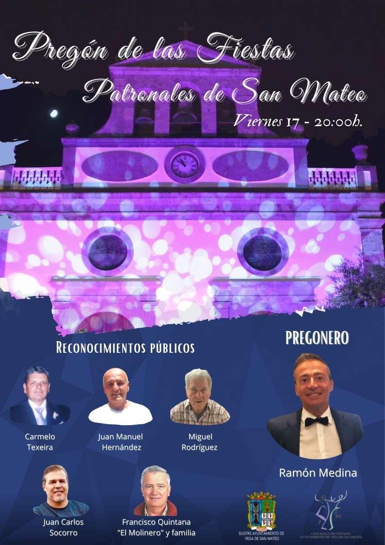 Ramón Medina dará este viernes el pistoletazo de salida a las Fiestas Patronales de San Mateo