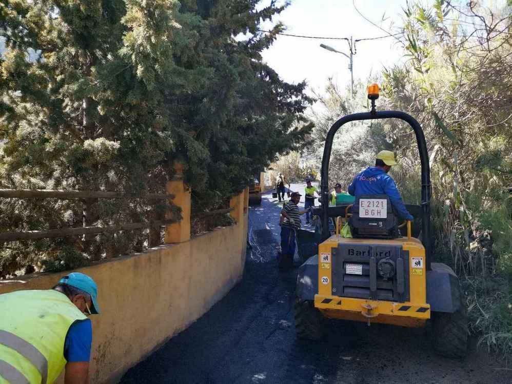 Obras de mejora en el barrio de La Yedra