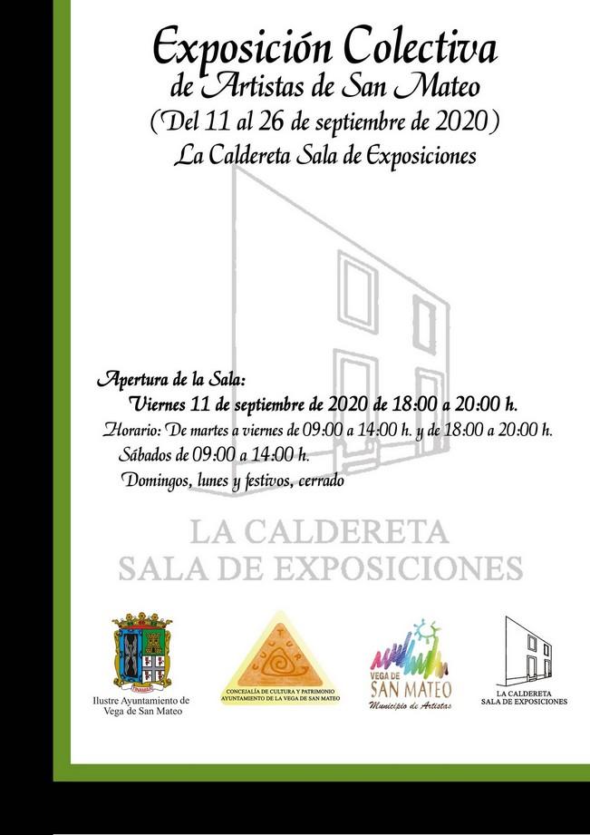 La Exposición Colectiva de Artistas de San Mateo, referente cultural local en septiembre