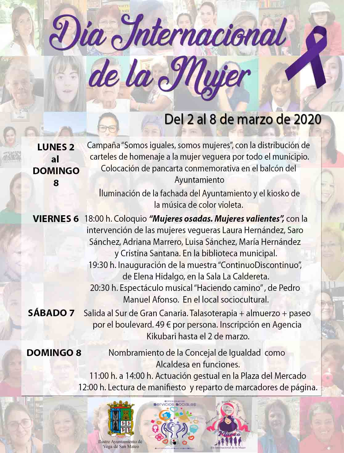 cartel-actos dia de la mujer san mateo 2020
