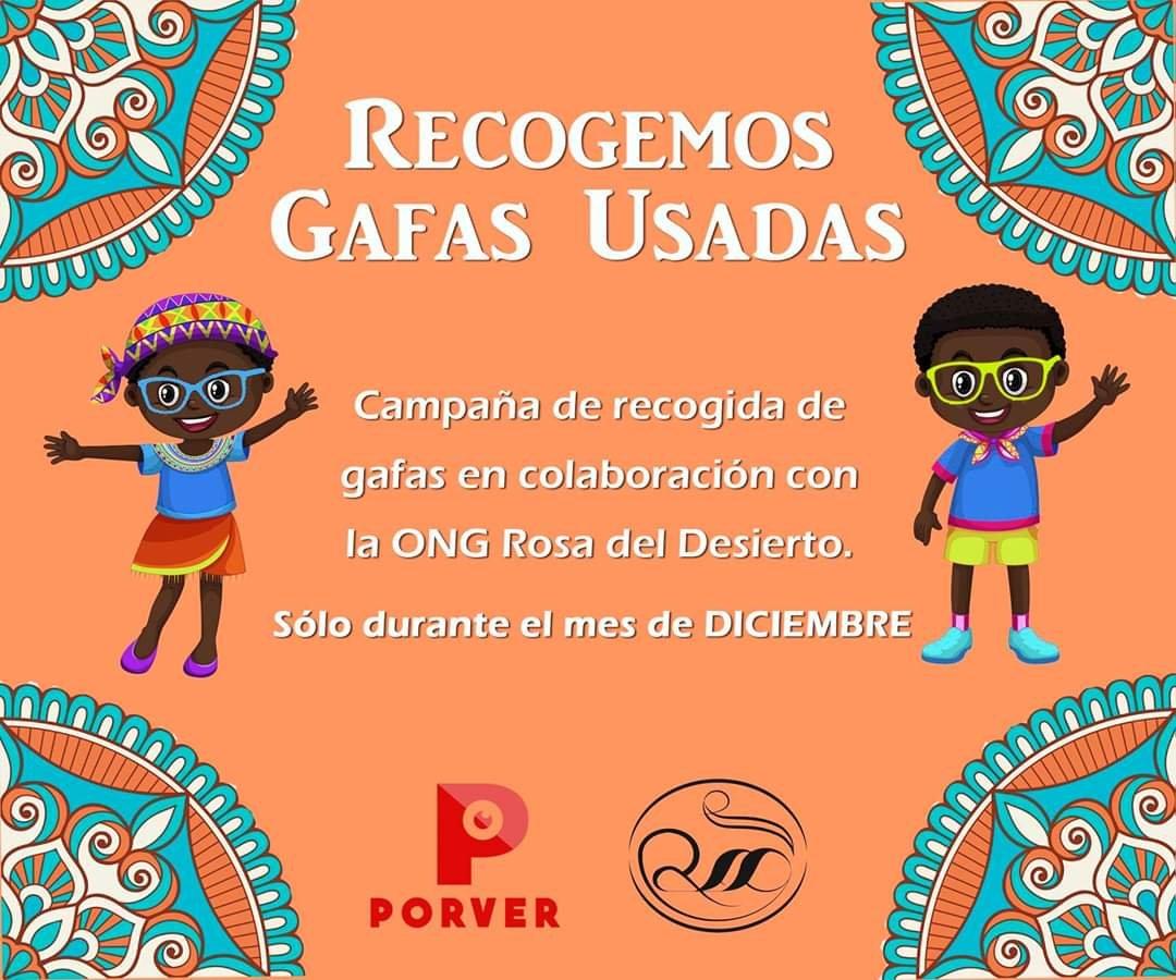 Óptica Porver organiza una recogida solidaria de gafas usadas