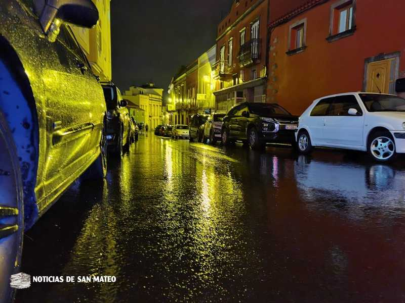 La lluvia deja unos 21 litros por metro cuadrado en San Mateo