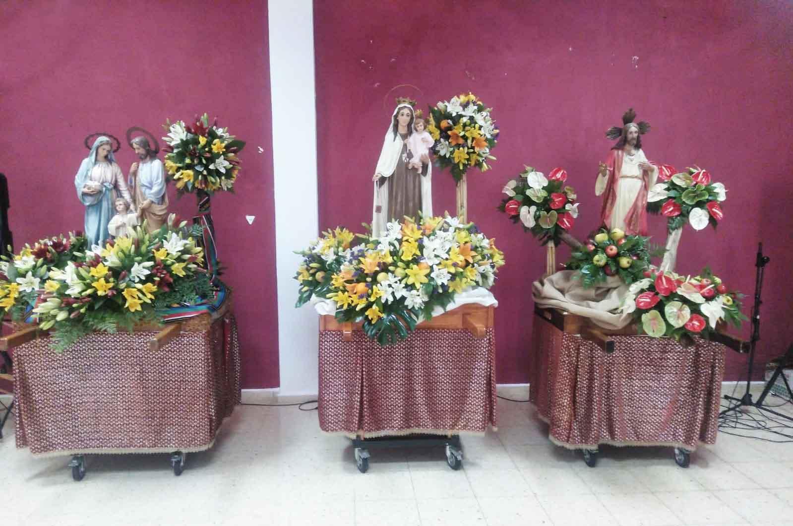 santos La Solana preparados para Romeria