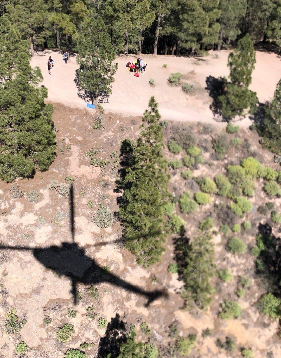 Rescatada una mujer herida tras sufrir una caída en el Roque Nublo