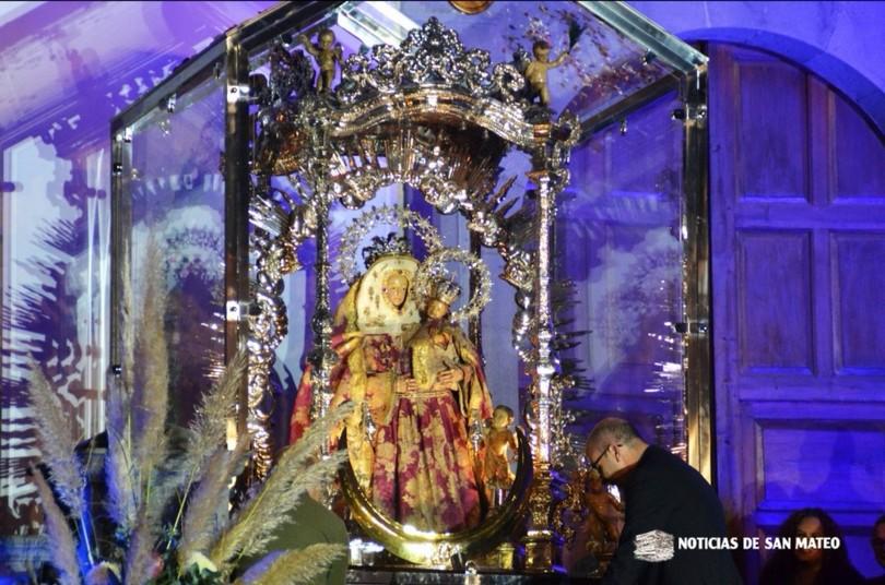 San Mateo completa la primera guagua para ir a la peregrinación de Valleseco