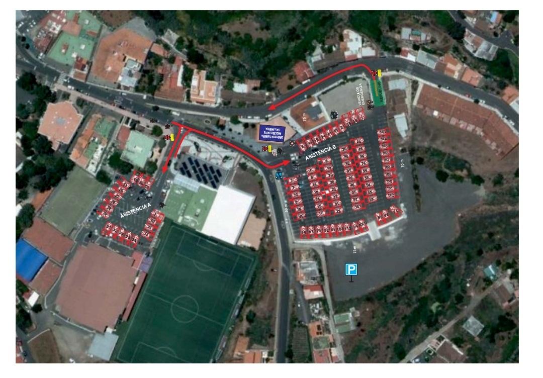zona de asistencia san mateo rally isla de gran canaria 2019